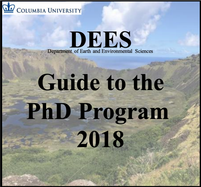DEES Guide to the PhD 2018