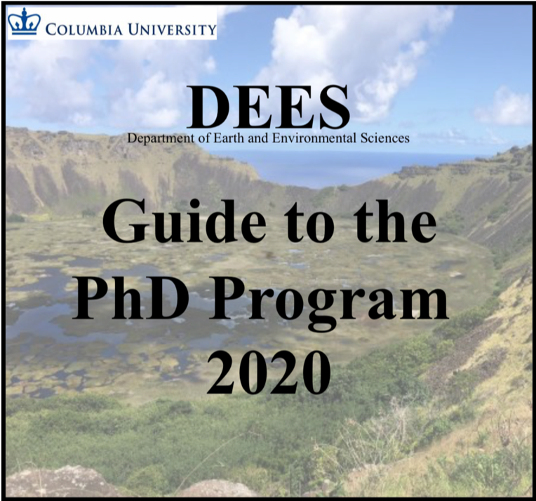 DEES Guide to the PhD Program 2020